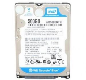 Western Digital WD 500GB HD Laptops 5400RPM SATA
