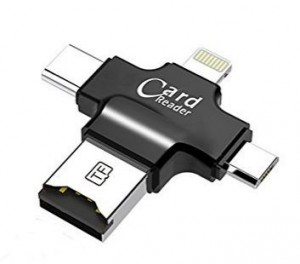 Micro SD Card Reader w/lightning Type C