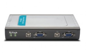 KVM Switch 4 Port USB W/Cable