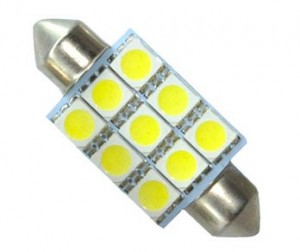 36MM LED Common Auto Lamp with 9 SMD-5050