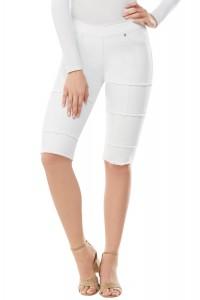 LUXE DENIM SLIMS Frayed Skimmer Shorts