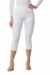 NYGÅRD SLIMS Luxe E4 Button Hem Capri Pants