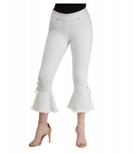 LUXE DENIM SLIMS Bell Hem Crop Jeans