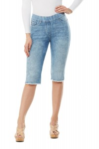 LUXE DENIM SLIMS Skimmer with Frayed Hem