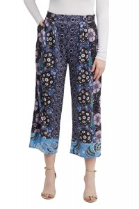 Floral Digital Print Cropped Pant