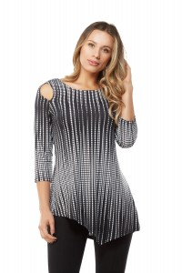Asymmetrical Cold Shoulder Tunic