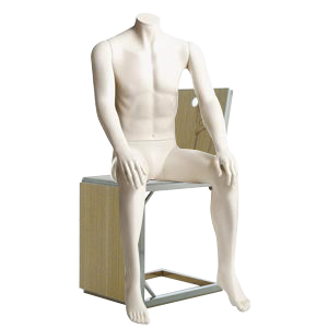 Sitting Headless Male Mannequin