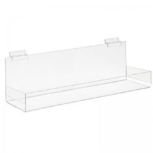Clear Acrylic Shelf for Slatwall