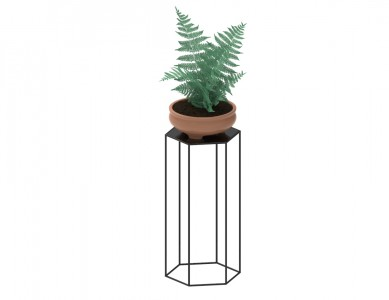 Hexagon Shape Flower Pot Stand