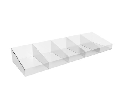 Acrylic Shelf with Dividers